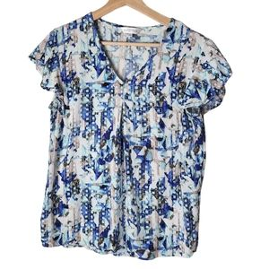 Northern Reflections blue short-sleeved blouse